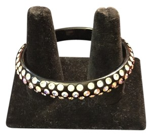 Other Black Plastic Bangle with Rhinestones