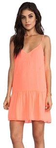 Dolce Vita short dress Neon Coral Tinsel Orange Summer Pink on Tradesy