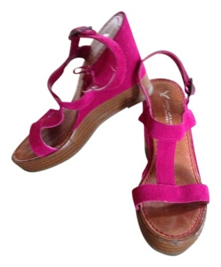 American Eagle Outfitters Hot Pink Wedges