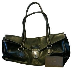 Prada Br1254 Leather Shoulder Bag