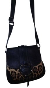Dolce&Gabbana Monogramed Fabric Metal Closure Belt Like Strap Cross Body Bag
