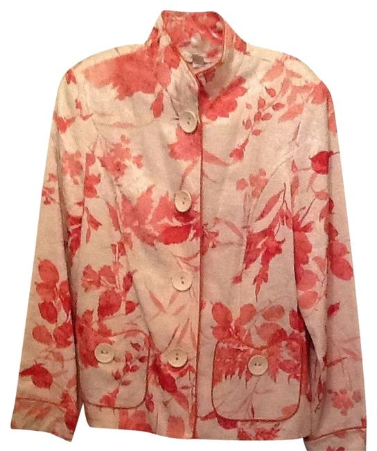 Preload https://item3.tradesy.com/images/coldwater-creek-peach-and-white-spring-size-12-l-1679052-0-0.jpg?width=400&height=650