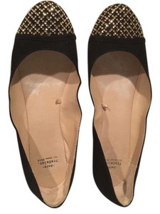 Zara Lots Of Crystals Black Flats