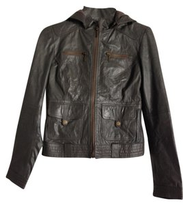 TRF Leather Motorcycle Jacket