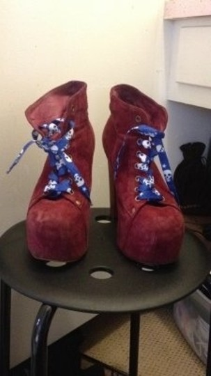 Jeffrey Campbell red Boots