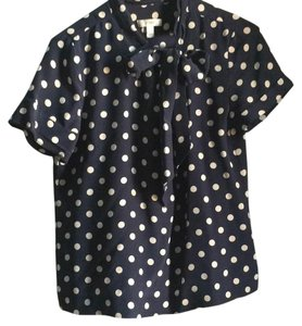 J.Crew Polka Dot Silk Top