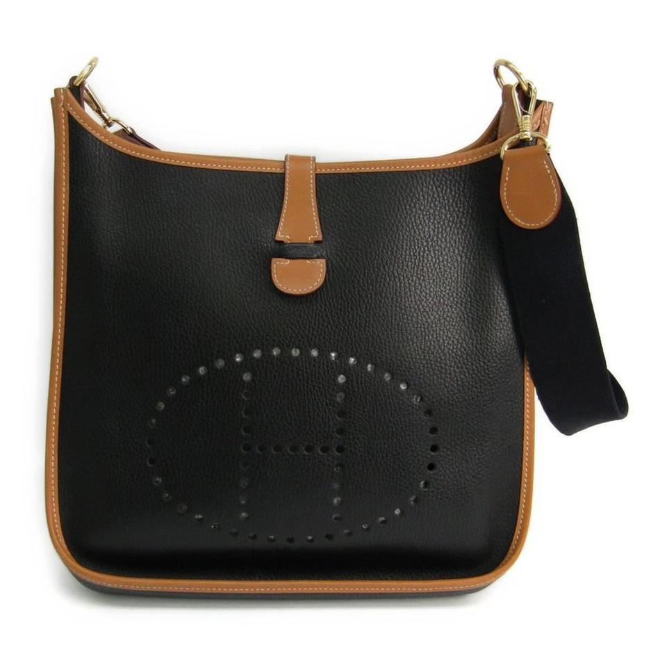 e71453436f4 Hermès Evelyne Pm Black Clemence Leather Cross Body Bag - Tradesy