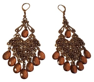 Vintage Bohemian Earrings Dangle Gold Plated