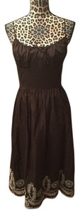 Ann Taylor LOFT short dress Brown Boho Wedding Shower on Tradesy