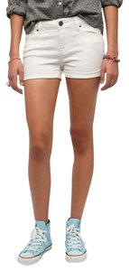Urban Outfitters Summer Hot Pants Denim Cuffed Shorts white