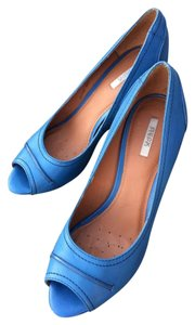 Geox ` Marieclaire Open-toe Office Tall Turquoise Pumps