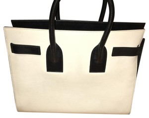 Saint Laurent Satchel in White And Black