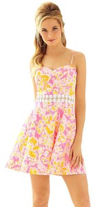 Lilly Pulitzer short dress Kir Royal Pink Ooh La La Lenore Cut-out Easter Sunday on Tradesy