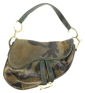 Dior Camo Saddle Shoulder Bag