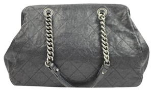 Chanel Cc Logo Silver Chain Shoulder Bag