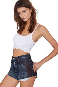 Nasty Gal Distressed Pin-up Sexy High-waist Cut Off Shorts blue
