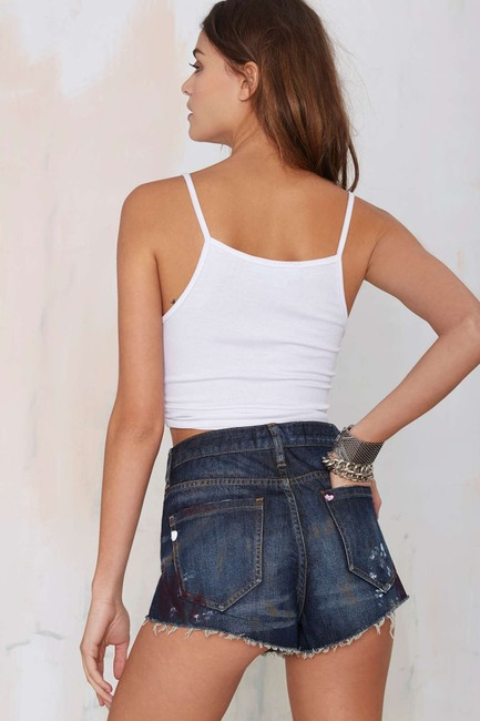 Nasty Gal Distressed Pin-up Sexy High-waist Cut Off Shorts blue Image 3
