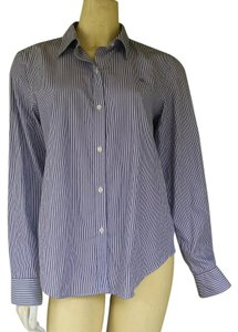 Ralph Lauren Cotton Striped Shirt Button Down Shirt Purple