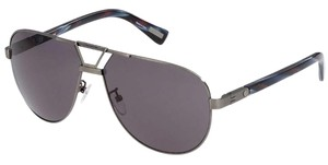 Lanvin NEW Lanvin SLN 043 Gunmetal Abstract Aviator Sunglasses $580