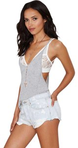 Nasty Gal Cutoff Distressed Pin-up Sexy Cut Off Shorts blue