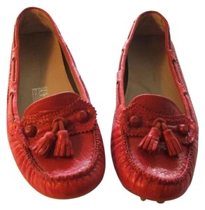 Balenciaga Driving Loafers Loafers Red Flats