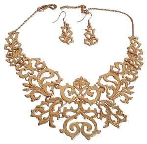 Gold Plated Statement Necklace Set