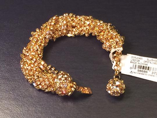 Kate Spade Brand New with Tags Pristine and Rare Kate Spade CrystalCascade Bracelet MSRP $245 12K Gold Plate Crystal Elegance