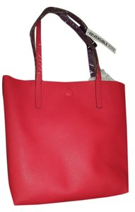Reversible tote Tote in Red/plum