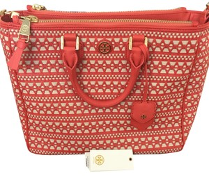 Tory Burch Satchel in Poppy Coral/dulce De Lache
