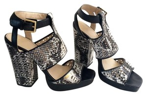 Calvin Klein black/white/snake skin Sandals