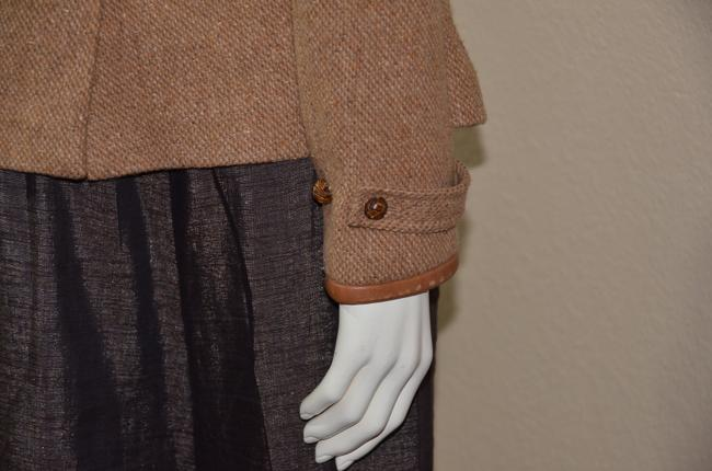 Ralph Lauren Blue Label Equestrian Wool Tweed Riding TAN Jacket Image 4