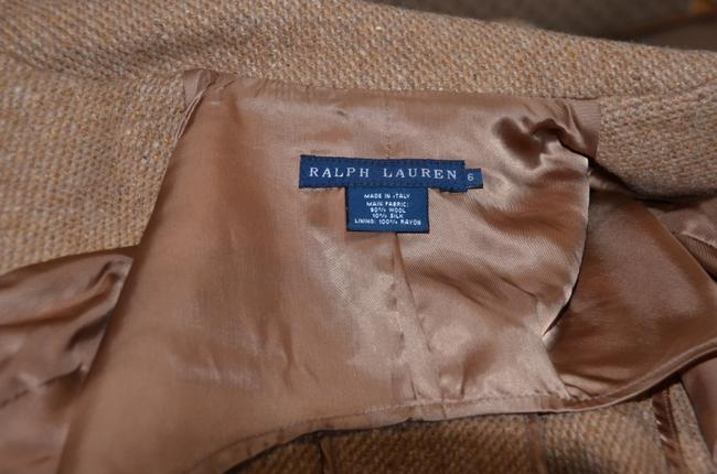 Ralph Lauren Blue Label Equestrian Wool Tweed Riding TAN Jacket Image 5