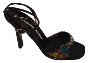 Giuseppe Zanotti Black Multicolor Beaded Formal