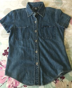 DKNY Denim Button Shirt Blue Button Down Shirt