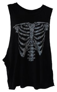 Brandy Melville Muscle Tee Skull T Shirt Black