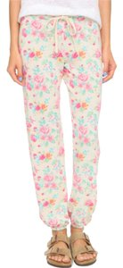 Sundry Floral Relaxed Pants SEASHELL