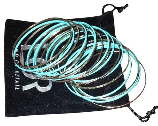 end of retail Turquoise And Gold Bangles