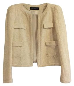 Zara Business Casual Jacket Office Wear Beige Blazer