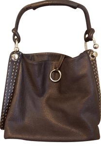 BCBGMAXAZRIA Bcbg Max Azria Hobo Silver Hardware Tote in Dark Brown