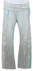 Hard Tail Athletic Pants White, Gray and Turquoise