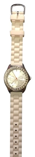 Other Watch - White Rubber Band with Rhinestone Dial