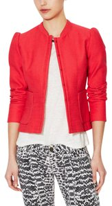Maje French Work Fitted Coral Blazer