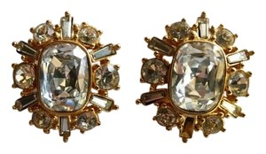 Dior Dior Gold Rhinestones Earrings