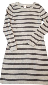 Banana Republic short dress Dark Gray/Light Gray Stripe Sweater Comfort on Tradesy
