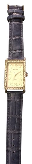 Other Watch with Denim Ostrich Leather Band and Rhinestone Dial