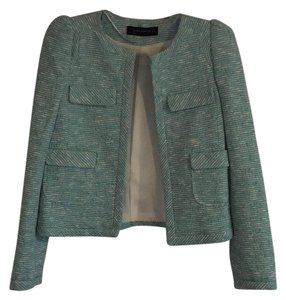 Zara Jacket Business Wear Casual Work Teal blue Blazer