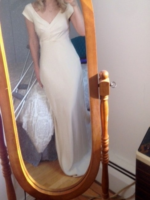 Item - Champagne Silk Cecilia Gown Casual Wedding Dress Size 2 (XS)