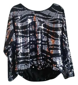 Rachel Zoe Sequin Top Black