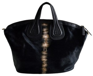 Givenchy Calf Fur Tie Dye Tote in Black