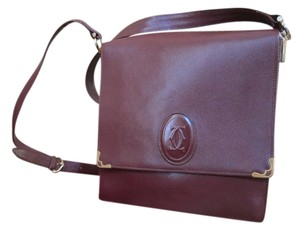 Cartier Vintage Leather Classic Cross Body Bag